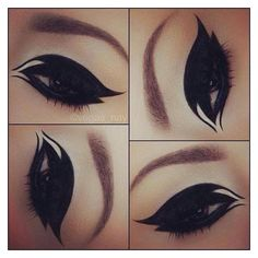 Black eyeshadow Make up tips ❤ liked on Polyvore featuring beauty... ❤ liked on Polyvore featuring beauty products, makeup, eye makeup and eyeshadow