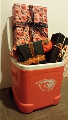 OSU cooler gift basket.