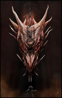 Smaug & Bilbo Baggins - The Hobbit - Andy Fairhurst The Crow, Fire Dragon, Dragon Art, Smaug Dragon, Dragon Tales, Hobbit Art, The Hobbit, Fantasy Creatures, Mythical Creatures