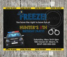 Cop / Police Birthday Party Invitation by MyPrettyPartyShoppe