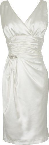 Satin Formal Little Black Dress Crystal Pin Prom Bridesmaid Junior Plus Size, Size: 2X, Color: Ivory PacificPlex, http://www.amazon.com/dp/B007GR6BWQ/ref=cm_sw_r_pi_dp_Bwihqb0N2S3V3
