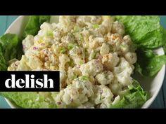 "Love potato salad? This cauliflower ""potato"" salad from Delish.com is the best."