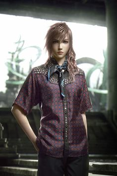 SQUARE ENIX collaboration with Prada, Spring 2012 for Arena Homme+