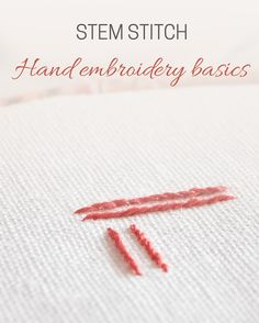 Hand embroidery basics: stem stitch