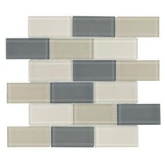 Jeffrey Court Vanilla Bean Gloss 12 In X Gl Wall Tile 8 97 Sq Ft Kitchen Pinterest Tiles Lights And Walls