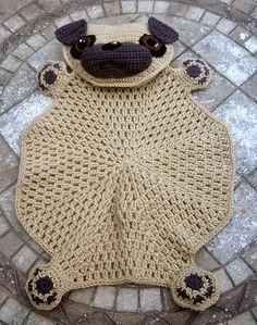 Ravelry: Pug Blankie pattern by Jenna Wingate