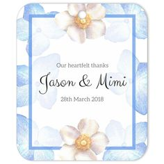 The Periwinkle Blue Cascade gift tag is the perfect favor decoration or gift tag for weddings and engagements. Wedding Gift Tags, Wedding Favours, Diy Wedding, Party Favors, Wedding Stickers, Diy Party, Spring Wedding, Elegant Wedding, Event Planning