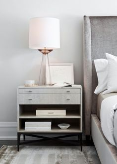 modern white and gray bedroom design - Neutral Bedroom Decor - Elizabeth Metcalfe Interiors. Gray Bedroom, Master Bedroom Design, Trendy Bedroom, Home Decor Bedroom, Bedroom Furniture, Bedroom Modern, Bedroom Ideas, Bedroom Simple, Decor Room