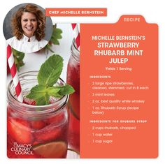 Macy's Culinary Council Chef Michelle Bernstein's Strawberry Rhubarb Mint Julep