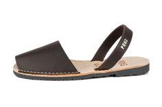 Avarca sandal, aka menorquina, Classic Style Women avarca Pons in Lava color by Avarcas USA