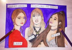 Ariana Grande, Miley Cyrus & Lana Del Rey- Don't call me angel comics painting Cole Sprouse Jughead, Dont Call Me, Jim Morrison, Beautiful Drawings, Miley Cyrus, Katy Perry, Cool Artwork, Art For Sale, Ariana Grande