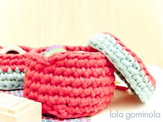 Cestos de trapillo Merino Wool Blanket, Bonbon, Crochet Baby, Bushel Baskets, Notebooks, Trapillo