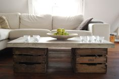Pallet and concrete table