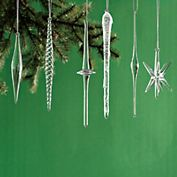 Silver Starburst Ornament Set from gumps | Christmas Decor ...