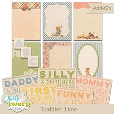 Toddler Time Add-on Digital Kit by quirkytwerp on Etsy