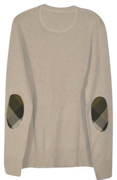 Burberry Cashmere Check Elbow Patch Sweater