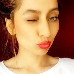 Karan Kundra's girlfriend VJ Anusha gives it back to Kishwer Merchant and Suyyash Rai Anusha Dandekar, Karan Kundra, Lip Tint, Red Lips, Girlfriends, Bollywood, Makeup, Beauty, Community