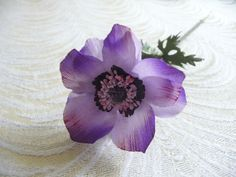 Vintage Millinery Anemone Lavender Purple Flower NOS by APinkSwan