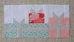 gift quilt block pattern | gift box paper pieced pattern round robin quilt block row- patchwork ...