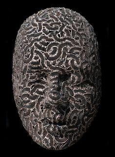 Strange Welded Sculptures Masks Artwork