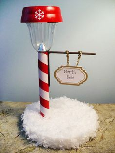 30 DIY Dollar Store Christmas Decorations You Can Make With Your Kids - Dollar Store North Pole Street Light by Dollar Store Crafts – 30 Incredible Dollar Store DIY Chri - Decoration Christmas, Noel Christmas, All Things Christmas, Winter Christmas, Christmas Ornaments, Holiday Decorations, Handmade Christmas, Diy Decoration, Family Christmas