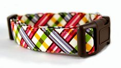 Dog CollarPicnic in BerryMade to Order in Your by BowWowCouture, $19.95