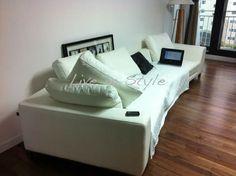 Max 6029 Leather Sofa in White