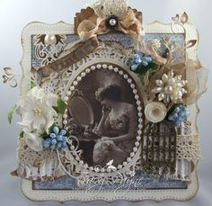 Card created by LLC DT Member Tracy Payne, using an image from Pion Design and papers from Riddersholm Design.