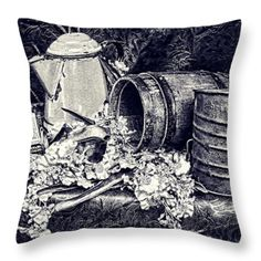 Throw Pillows - Country Kitchen II Throw Pillow by Pamela Walton