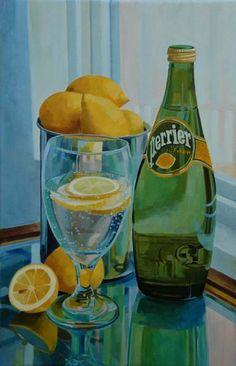 Lemon Perrier painting