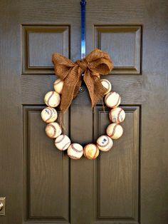 all things katie marie:  Baseball Wreath