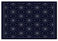 Sashiko Placemat Sampler - Preprinted with wash out stitching lines. This placemat features an arrow design. Arrow Design, Shibori, Decorating Your Home, Coasters, Dragon, Crafty, Boro, Placemat, Stitching