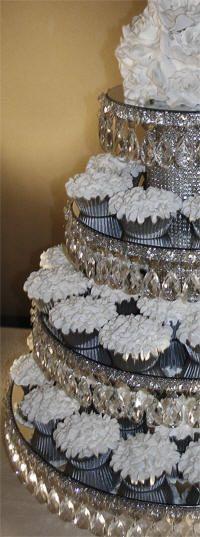 DECORATE MY WEDDING Crystal Wedding Cupcake Stands 4 TIERS GENEVIEVE
