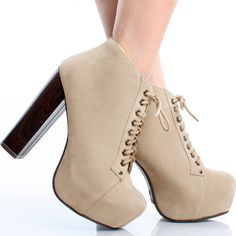 Black-Suede Lace Up Women Block Chunky High Heel Platform Ankle