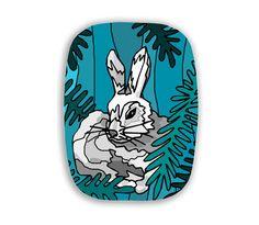 Rabbit Melamine Platter Dinnerware Tray by UniqueArtPendants
