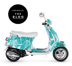 custom kate spade new york vespa ~ When I was in Europe I loved seeing all the scooters driving around ~ so cool.