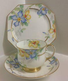 china tea Beautiful Paragon Art Deco Hand P - china China Cups And Saucers, Teapots And Cups, Tea Cup Saucer, Tea Cups, China Tea Sets, Vintage Cups, Vintage China, My Cup Of Tea, Tea Time