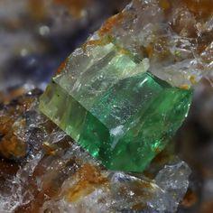 Byrud Emerald Mine, Minnesund, Eidsvoll, Akershus, Norway - Beautiful dark transparent emerald from the Byrud mine in Norway. Half, Life Form, Gems And Minerals, Norway, Emerald, Nostalgia, Crystals, Stone, Beautiful