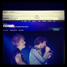 #EdSheeran performing with #GaryLightbody on iTunes Festival.. My life is complete.