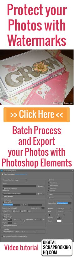 How to Protect your photos with a Watermark - Photoshop Elements
