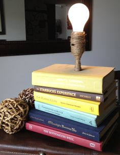 Book+Lamp+Recycled+books+by+SarahJayDesign+on+Etsy,+$50.00