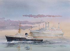 remolcador Zwarte Zee y buque Rotterdam 1959 HAL (1)