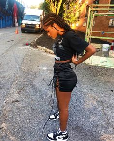 "May 2020 - ""hottest out but you already knew that"" Cute Swag Outfits, Chill Outfits, Dope Outfits, Trendy Outfits, Summer Outfits, Streetwear Mode, Streetwear Fashion, Jugend Mode Outfits, Black Girl Fashion"