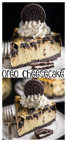 New York-Style Oreo Cheesecake - Baker by Nature New York-Style Oreo Cheesecake - Baker by Nature<br> This ULTRA thick rich and creamy New York-Style Oreo Cheesecake is so satisfying and surprisingly simple to bake! Oreo Cheesecake Recipes, Dessert Recipes, Chocolate Cheesecake, Delicious Desserts, Cheesecake Factory Oreo Cheesecake, Dessert Ideas, Birthday Cheesecake, Cheesecake Cupcakes, Oreo Dessert
