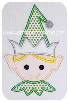 Elf Boy Head Applique Design
