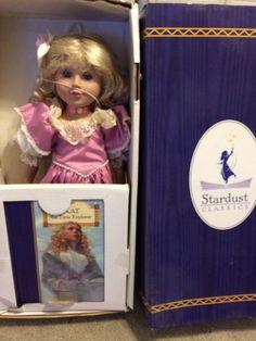 "Just Pretend Stardust Classics Kat the Time Explorer doll 18"" vinyl w/ book"