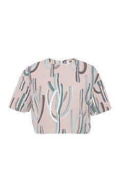 Cactus Print Wrap Skirt by MSGM - Moda Operandi
