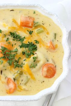 Tortellini Cheddar Cheese Soup Recipe ~ an impeccable warm, cozy soup... sumptuous cheese-e-licious!