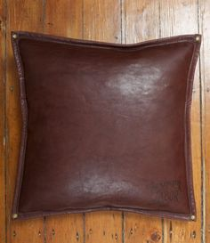 Leather Cushion Brown
