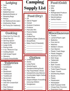 *Printable* camping supply list and our camping tips to make your next camping trip easier.: